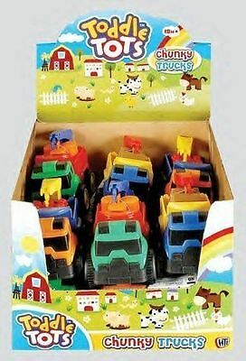 Pack Of 3 - 12cm Toddle Tots Chunky Trucks - Assorted Colours - (HL13) x3
