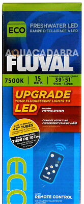 "FLUVAL ECO BRIGHT FRESHWATER LED 15w 39-51"" FISH TANK AQUARIUM STRIP PLANT LIGHT"