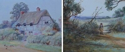 19th Century English Countryside Watercolours