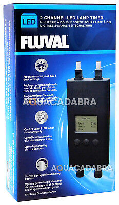 Fluval Digital Dual 2 Channel Led Lamp Timer Eco Bright Aquasky Fish Tank Light