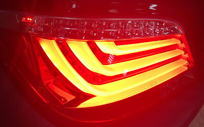 LED BAR RÜCKLEUCHTEN SET für BMW 5er E60 03-07 SCHWARZ ROT RED SMOKE LED BLINKER