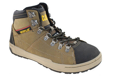 "Caterpillar Men's Brode Hi 5"" Steel Toe  Work Shoes Bungee Cord Style P90187"