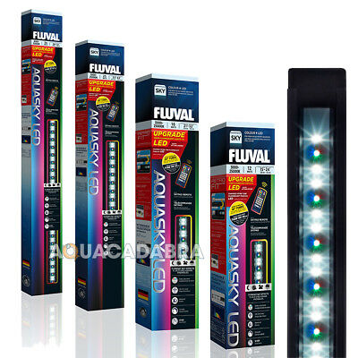 Fluval Aquasky Colour + Remote Led Lighting Fish Tank Aquarium Strip White Light