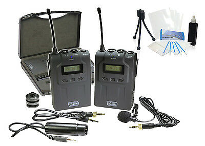 Pro UHF Wireless Microphone System w/ Lavalier for Nikon D3100 D3200 D3300 D5300