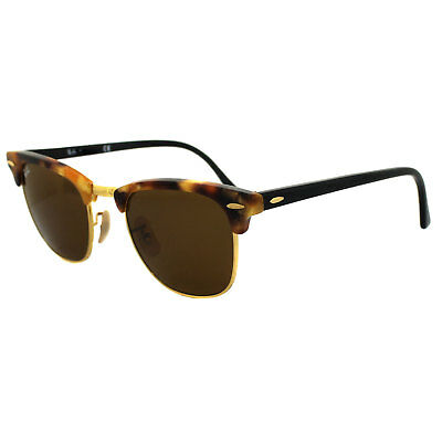 Ray-Ban Sunglasses Clubmaster 3016 1160 Fleck Tortoise & Black Brown