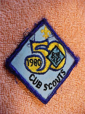Uf- 1980 Cub Scouts 50   Embroidered Patch  #43941
