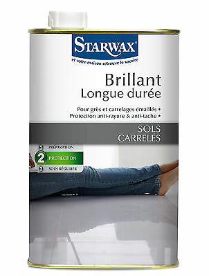 STARWAX PROTECTION BRILLANT LONGUE DUREE 1 L GRE, CARRELAGES EMAILLES ref 322