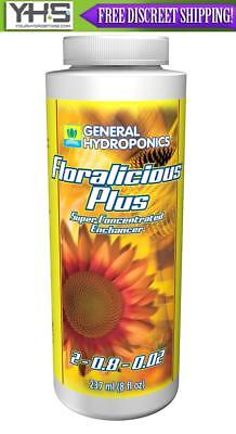 General Hydroponics Floralicious Plus 8 oz - GH 8 ounces grow root nutrient add