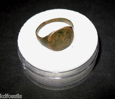 Roman Byzantine empire ring 5th century AD to fall of Byzantium 18mm #6