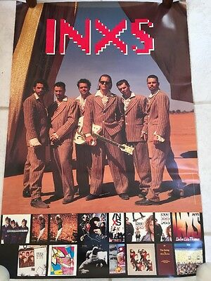 """Inxs """"welcome To Wherever You Are"""" 1992 2-Sided Glossy Promo Poster Some Mold"""