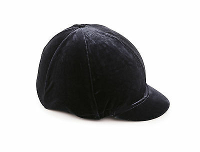 Shires Velvet Look Riding Hat Silk Cover For Jockey Skull Caps Black Navy Brown
