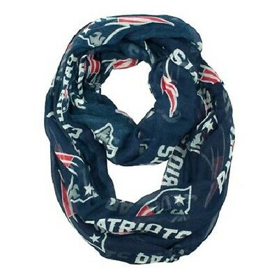 New England Patriots Sheer Infinity Neck Scarf NEW - Blue