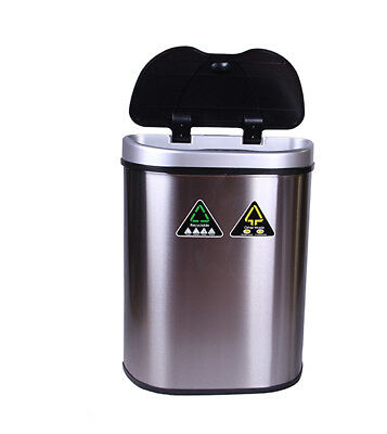 BN 70L Automatic Motion Sensor Rubbish Bin TWO COMPARTMENTS Trash Waset Kitchen