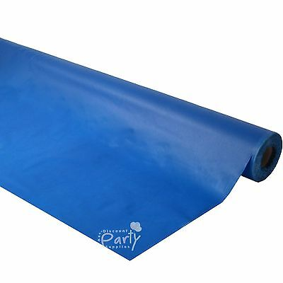 Royal Blue Plastic 30M Banquet Table Roll Tablecover Tablecloth Wedding Party