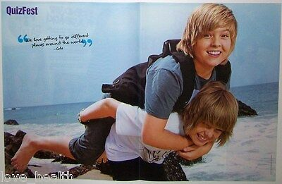"""DYLAN & COLE SPROUSE - BAREFOOT - 16"""" x 11"""" MAGAZINE CENTERFOLD - POSTER"""