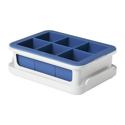 Oxicln Oxo Covered Silicone Navy Ice Cube Tray - Large Cubes 11154200