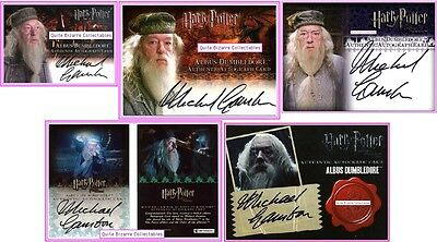 Dumbledore Auto Michael Gambon PoA GoF OP HBP DH Harry Potte Deathly Hallows