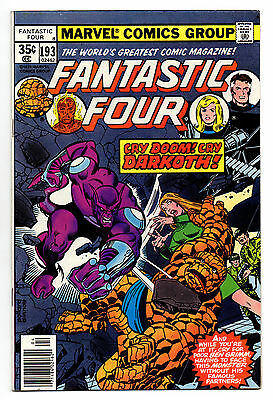 Fantastic Four Vol 1 No 193 Apr 1978 (FN+) Marvel, Bronze Age (1970 - 1979)