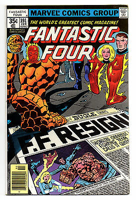 Fantastic Four Vol 1 No 191 Feb 1978 (VFN-) Marvel, Bronze Age (1970 - 1979)