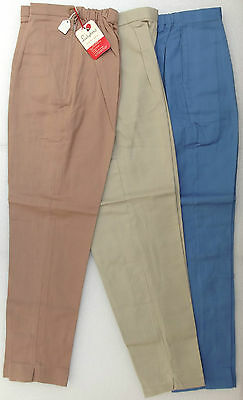 Vintage girls trousers slacks 1950s 1960s UNUSED Age 10 years brown blue