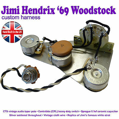 Jimi Hendrix Reproduction Stratocaster Strat Wiring Kit - Hand Built in the UK