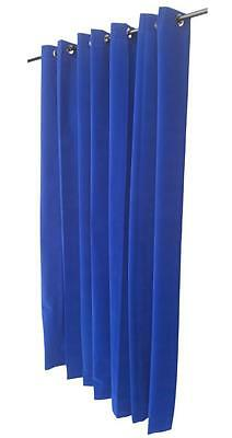 "Royal Blue 96""H Velvet Curtain Panel w/Grommet Top Eyelet Window Treatment Drape"