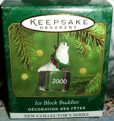 Ice Block Buddies`2000`Miniature-Seal.1St In The Series,Hallmark Ornament,NEW