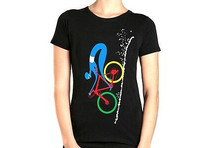 Apres Velo All Downhill From Here Womens T Shirt - Black