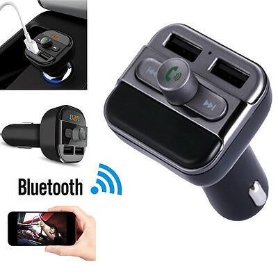 Wireless Bluetooth Handsfree Car Kit Dual USB MP3 Player FM Transmitter USB/SD