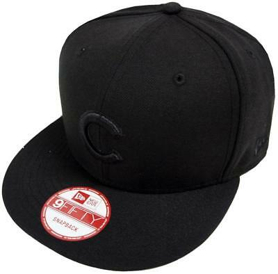 New Era MLB Chicago Cubs Black on Black Snapback Cap 9Fifty Limited Edition c872ad11d333