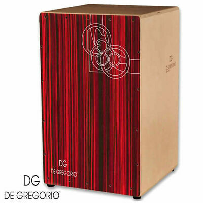 De Gregorio Bravo Red Makassar Cajon Birch front back and sides DG
