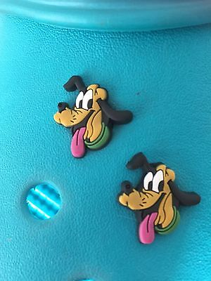 2 Pluto (Mickey Mouse) Shoe Charms For Crocs and Jibbitz Wristbands. Free UK P&P