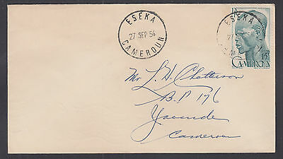 Cameroun Sc 319 on 1954 Local Cover to Yaounde, Scarce ESEKA cds, fresh & VF