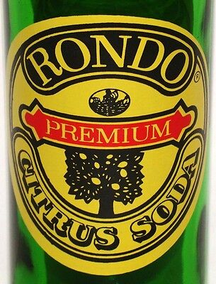 Vintage soda pop bottle RONDO PREMIUM CITRUS SODA tree pictured 3 color n-mint