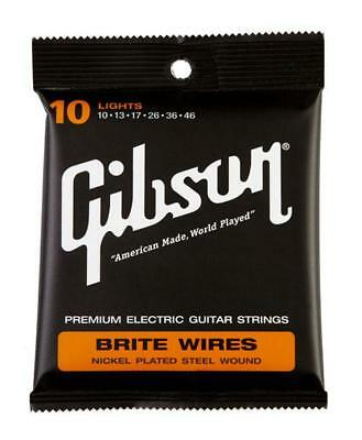 Gibson Brite Wires Light E-Gitarren Saiten Stärke .010 - .046 Made In Usa
