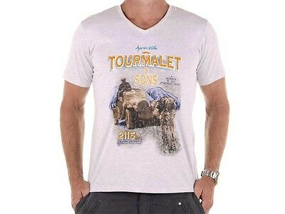 Apres Velo Tourmalet & Sons Mens T Shirt - Silver Marle