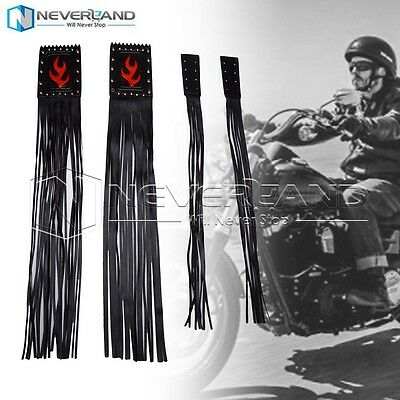 "Motorcycle Fringe Grip Cover Lever Combo 23"" Tassel For Harley Cruiser Custom"