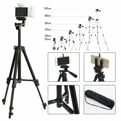 Black Professional Camera Tripod Stand Holder For Samsung S8 S9 iPhone X 8 + USA
