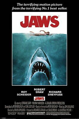 "JAWS - MOVIE POSTER / PRINT (REGULAR STYLE) (SIZE: 24"" x 36"")"