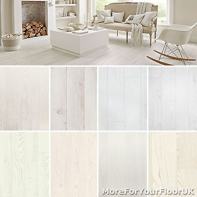 White Wood Plank Vinyl Flooring Non Slip Vinyl Flooring Lino Kitchen Bathroom