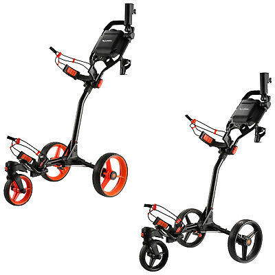 Md Golf Turfglider 360 Swivel Trolley 3 Wheel - New Premium Cart Buggy 2017