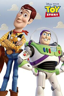 "TOY STORY - MOVIE POSTER / PRINT (BUZZ LIGHTYEAR & WOODY) (SIZE: 24"" x 36"")"