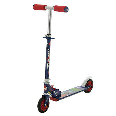 Thunderbirds Folding In-Line Scooter Adjustable Handle Children Push Ride-on Toy
