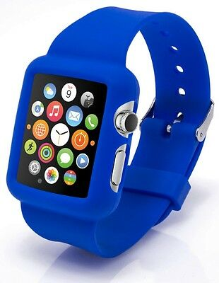 Apple Watch 38mm, Protective Silicone Dark Blue Case