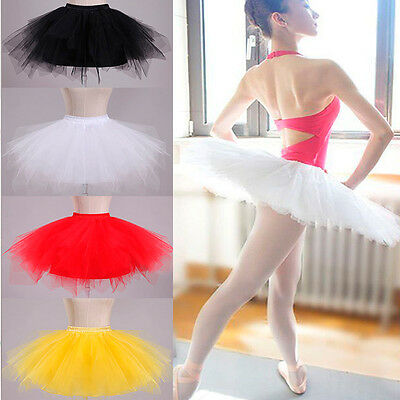 Adult Girl Party Theatre Costume Dance Ballet Princess Tutu Mini Dress Skirt New