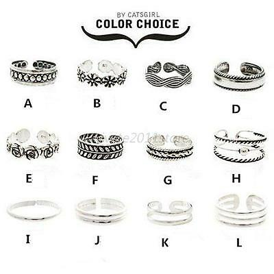 Adjustable Sexy Simple Toe Ring Foot Jewelry Toe Rings Retro Infinity Design A50