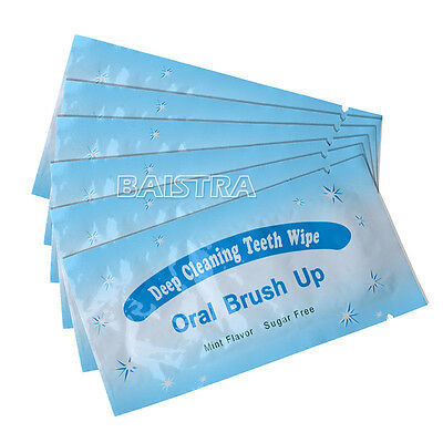 50X Dental Disposable Teeth Tooth Oral Deep Cleaning Brush Up Wipes Mint Flavor