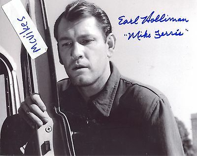 """Earl Holliman as """"Mike Ferris"""" The Twilight Zone Autographed 8x10 Photo #1 COA"""