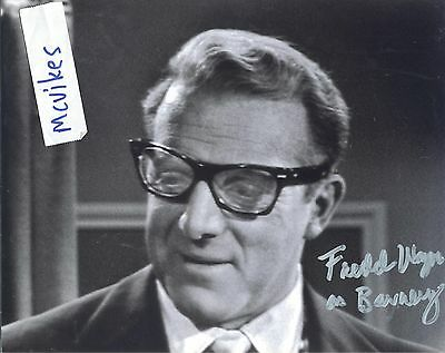 "Fredd Wayne as ""Barney Kamener"" The Twilight Zone Autographed 8x10 Photo COA"
