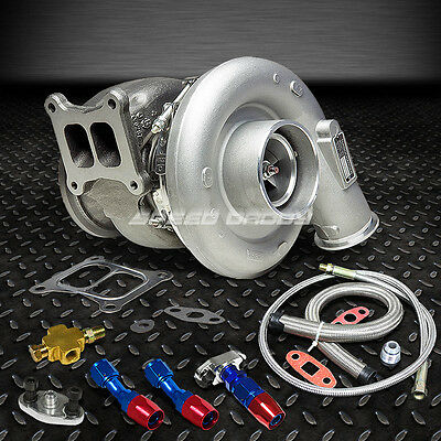 HX55W 500+HP TURBO Charger+Oil Feed+Drain Line For L10 Ism Dodge Cummins  Diesel